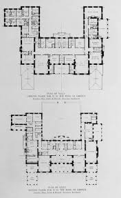 house plan center hall colonial plans design ivanhoe 1912 floor