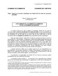 chambre de commerce sens code de commerce droit de revendication en matière de faillite