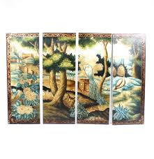 Painted Wall Paneling by Https Www Ebth Com Items 4947608 Four Piece Pain