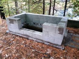 Firepit Grill Pit With Cinder Blocks Innovative Cinder Block Pit Grill