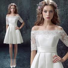 wedding dress brokat aliexpress buy 2016 half sleeve white laceshort cocktail