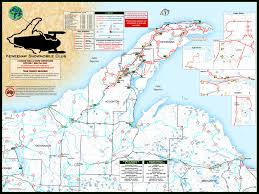 Upper Michigan Map Keweenaw Michigan Snowmobile