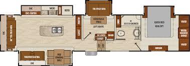 5th wheel floor plans 2018 coachmen chaparral 392mbl model