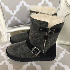 womens ugg boots with buckle ugg black bomber boots ebay
