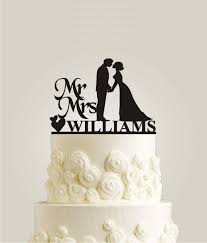 wedding cake m s mr and mrs williams wedding cake topper personalized last name