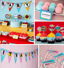 baby shower party supplies kara s party ideas superboy supergirl baby shower party