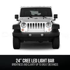jeep light bar 120w cree light bar led 24inch 12v flood spot combo offroad