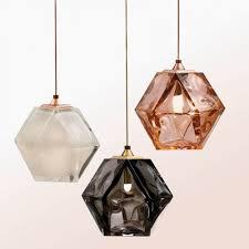 welles double blown glass pendant by gabriel scott