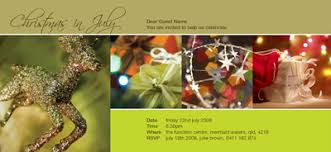 in july invitations gold reindeer
