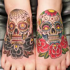 see more two beautiful sugar skull on