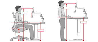 Ergonomic Standing Desk Setup Enchanting Ergonomic Standing Desk Setup Ergonomic Office Desk