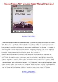 nissan stanza 1991 service repair manual down by esteladodds issuu