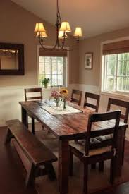 Dining Room Sets With Bench Seating by Reclaimed Wood Dining Table With A 2