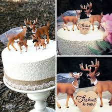 buck and doe cake topper you had me at camo buck and doe wedding cake toppers