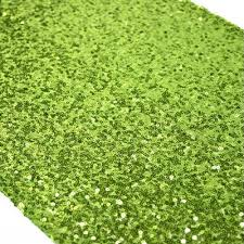 lime green table runner lime green sequin rental linen party time rentals