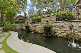 koi pond design landscape traditional with retaining wall garden