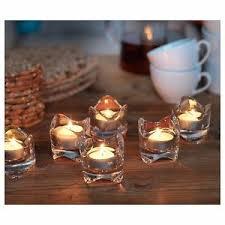porta candele 12 porta candele piccolo in vetro trasparente 6 cm bicchierino
