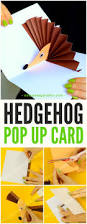 hedgehog pop up card easy peasy and fun
