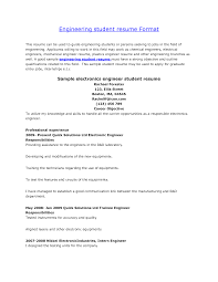 Format Job Resume Resume Format For Engineering Students Http Www Jobresume
