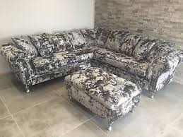 Chesterfield Velvet Sofa by Silver Panther Crush Velvet Corner Sofa Bespoke Chesterfield All