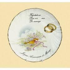 felicitation pour un mariage assiettes porcelaine félicitation pour votre anniversaire de