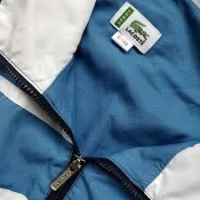 lacoste belgië vintage early 2000s lacoste track top jacket size 6 fits l depop