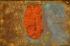 kalimdor map durotar map with locations npcs and quests of warcraft