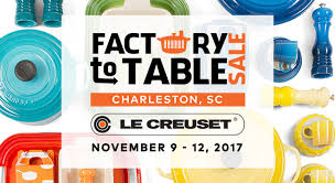 le creuset factory to table le creuset factory to table sale north charleston coliseum