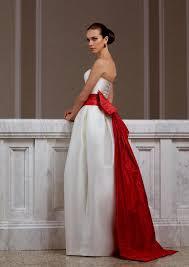 Red Sash White Wedding Dress With Red Sash Naf Dresses