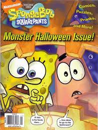 cartoon snap spongebob magazine halloween pumpkin cover painting