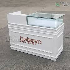 Reception Desk With Display Usd 366 17 Glass Display Cashier Paint Bar Show Reception Desk