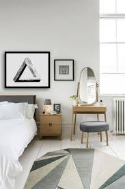 Scandinavian Bedroom Nice Fetching Striped Wall Decor Scandinavian Bedroom Design With