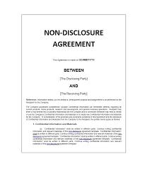 Non Disclosure Statement Template by 40 Non Disclosure Agreement Templates Sles Forms Template Lab