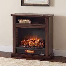 home decorators hampton bay hampton bay ansley 32 in rolling mantel infrared electric