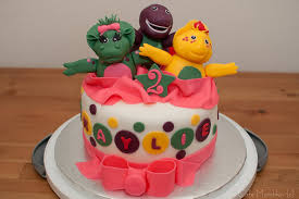 barney birthday cake cafe munchkin barney and friends birthday cake