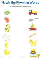printable rhyming words rhyming words free worksheet for preschoolers 1