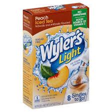 wyler s light singles to go nutritional information wyler s light singles to go low calorie drink mix sugar free peach