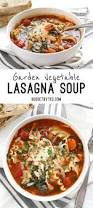 backyard garden vegetable lasagna soup budget bytes collage with