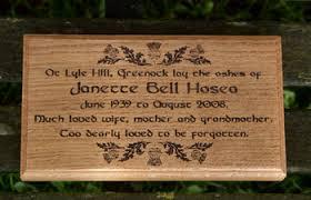 memorial plaques wooden memorial plaque