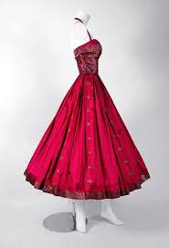 1940 u0027s fuchsia floral print metallic indian silk halter full skirt