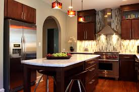 mahogany wood kitchen cabinets fabulous best backsplash for kitchen white marble countertop