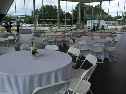 chair table rental white hercules chairs and 60 tables at the jim ellis audi