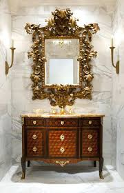Candle Sconces For Bathroom Vintage Italian Tole Gold Metal Framed Mirror Candle Sconces Wall