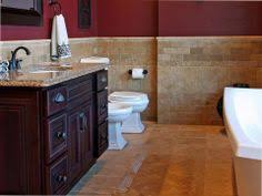 Cork Floor Tiles Bathroom - bathroom is fitted with cork flooring and cork penny tile on the