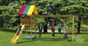 Wooden Backyard Playsets Outdoor Playsets Houston Wooden Swing Sets On A Budget U2013 Marku