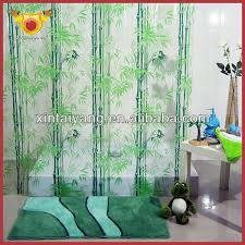 plastic bathroom drapes bamboo print shower curtain buy bamboo