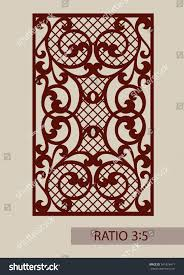 lace ornament template decorative panels image stock vector