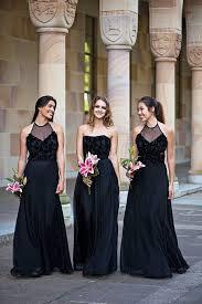 black and bridesmaid dresses best 25 black bridesmaid dresses ideas on