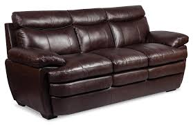 Leather Reclining Sofa Set by Marty Genuine Leather Sofa Brown The Brick