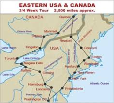 map of eastern usa and canada eastern usa canada rv tours up at new york boston washington